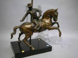 Bronze Picadore Figural Table Lamp