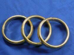Set of Three 14kt Gold Bangle Bracelets