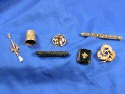 Group of Seven Antique Jewelry Items