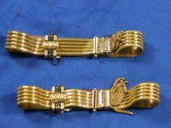 Pair of Victorian 14kt Gold and Enamel Slide Bracelets