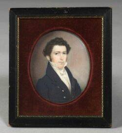Attributed to Charles Fraser Charleston South Carolina 17821860 Portrait of George Norton Miller 18051891