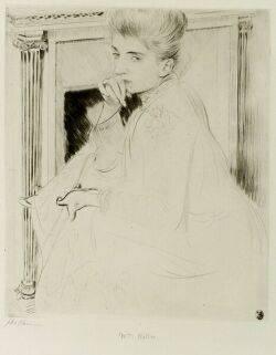 Paul Cesar Helleu French 18591927 Les Badines Madame Helleu