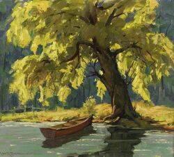 Leo B Blake American 18871976 Sunlight Through the Friendly Old Tree