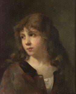 Gaston Gerard French b 1859 Portrait of a Child