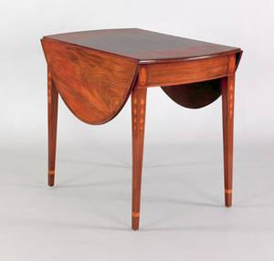 Baltimore Federal inlaid mahogany Pembroke table 17951810
