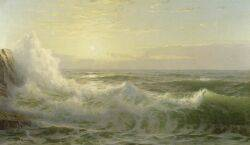 William Trost Richards American 18331905 Sunlit Waves