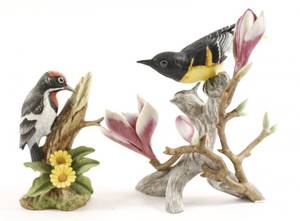 Pair of Porcelain Bird Figurines Audubon  Andrea
