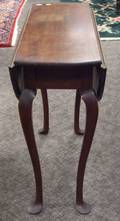 Diminutive Queen Anne Style Mahogany Dropleaf Table