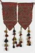 Pair of Uzbek Felt Tent Pole Covers