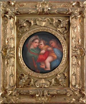 Italian painted porcelain plaque late 19th c