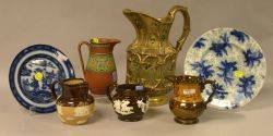 Seven Assorted English and Continental Ceramic Table Items