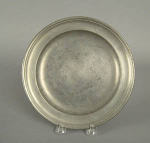 Providence Rhode Island pewter plate ca 1800