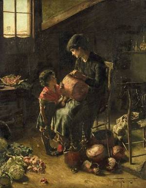 Freidrich Fehr German b 1862 The Copper Pot