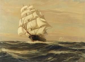 Charles Vickery American b 1913 Clipper Ship