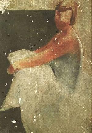 Lee Gatch American 19021968 Sketch of a Dancer
