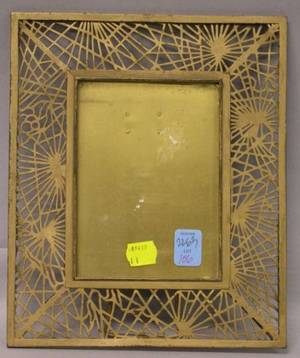 Tiffany Studios Gilt Bronze Pine Needle Pattern Picture Frame