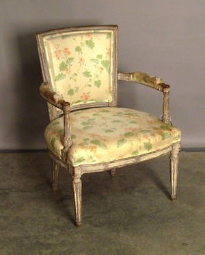 Painted French fauteuil