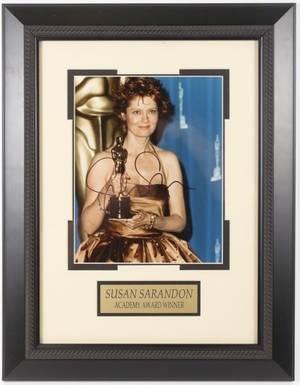 Framed Autographed Photo of Susan Sarandon