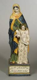 French Faience Figure of St Anne