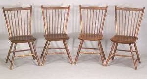 Set of Four Painted Windsor Side Chairs