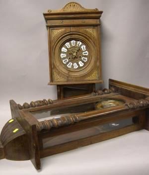 Vienna Walnut Regulator Wall Clock and an Oak Wall Clock