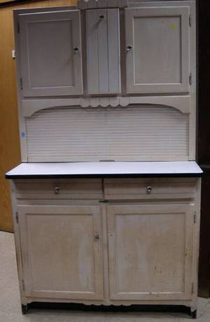 White Painted Hoosier Cabinet