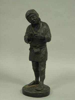 Bronze Figure of an Asian Peasant