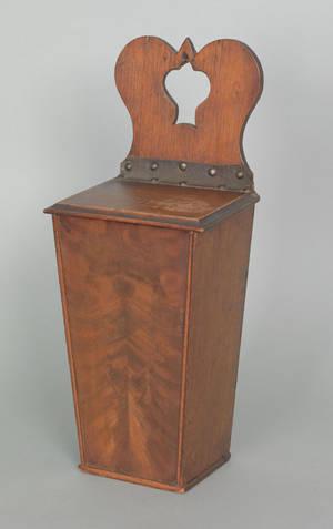 English mahogany hanging pipe box ca 1800