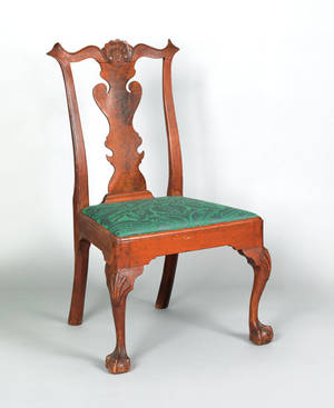 Delaware Valley Chippendale walnut dining chair ca 1765