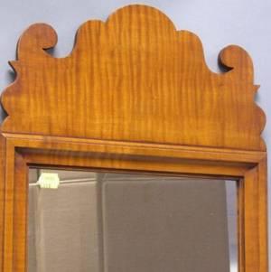 Eldred Wheeler Queen Anne Style Tiger Maple Mirror