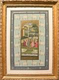 Contemporary painted Hindu panel