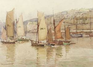 Wilton Lyon Lockwood American 18621914 Lot of Two Watercolors Including Brixham