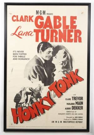 Framed Vintage Honky Tonk Movie Poster
