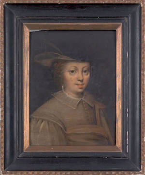 Old Masters oil on panel portrait of a young woman late 17th c