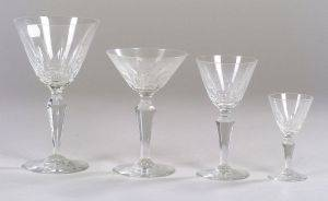 Fortyeight Pieces of Baccarat Stemware