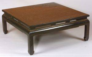 Chinese Export Black Lacquer Low Table