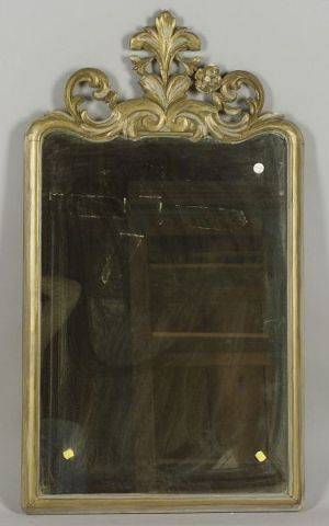 Victorian Rococo Revival Painted Beechwood Mirror