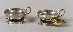 Pair of William Gale  Son Sterling Open Salts