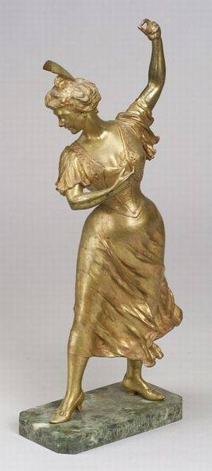 Continental Gilt Bronze Figure of a Spanish Dancer Carmencita