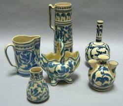 Aller Vale Sandringham Tankard Sandringham Scrolls Tulip Vase Jug and Bottleform Vase a Scrolls RopeHandled Basket and a Cabinet