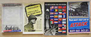 Eighteen United Stated World War I and World War II posters  Provenance Woodmere Art Museum
