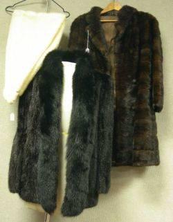 Mink Coat Jacket and Stole