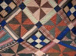 Late Victorian Silk Patchwork Quilt