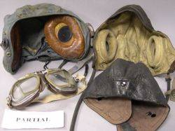 Collection of Vintage Motor Car and Aviation Goggles and Headwear