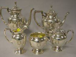 FivePiece Fisher Sterling Tea and Coffee Service