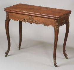 Victorian Carved Rosewood and Rosewood Veneer Card Table