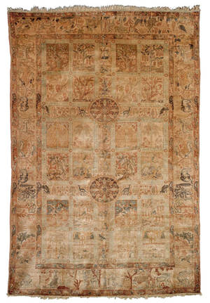 Turkish Anatolian silk carpet ca 1880