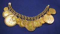 14kt Gold Coin Bracelet