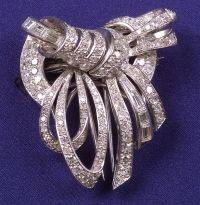 Platinum and Diamond Double ClipBrooch