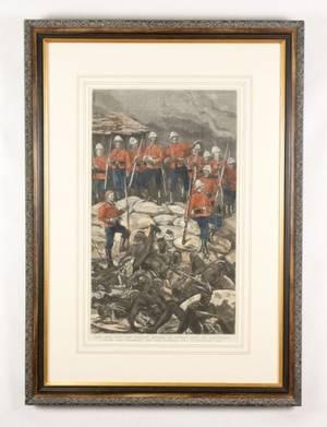 Defense of Rorkes Drift Zulu War Engraving
